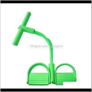 Fitness Gum 4 Tube Resistance Latex Pedal Exerciser Situp Pull Rope Expander Elastic Bands Yoga Equipment Pilates Workout Z2Ckl Hzmg5