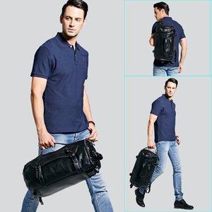 Путешествие на сумку Круглая Личность Кожаная Мода Рюкзак Мужской Роллинг Большой Человек Известный Duffel Размер Pxmeg
