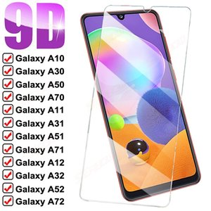 9D Full Tempered Glass For Samsung Galaxy A10 A30 A50 A70 Screen Protector A11 A31 A51 A71 A12 A32 A52 A72 Protective Film