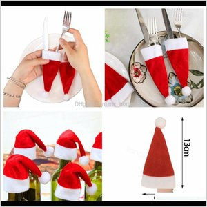 Wine Cover Little Hat For Christmas Bottle Decorations Kids Gift Merry Year Bar Table Decor Supplies Cap Ffa3261 Xoh03 Tlakw
