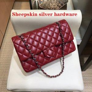 5A Handbags Women Cross Body Bags brand luxury designer sheepskin lamb leather gold chain 25cm Striped wallet Designers purse Shoulder Multi Pochette lady handbag