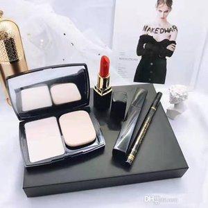 Top selling Dropshipping 4 in 1 makeup set Kollection matte lipstick eyeliner face powder mascara eye liner make up kit