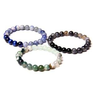 Charm Natural Stone Beads female Strands Bracelet Beautiful Agates Round Beaded Bracelet Creative gifts