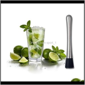 Tools Kitchen Dining Home Garden Drop Delivery 2021 100Pcs Stainless Steel Bar Mixer Barware Mojito Cocktail Sticks Wine Minced Rolling Fruit