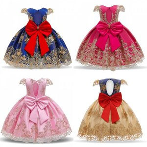 Girls Princess Kids Dresses for Girls Tutu Lace Flower Embroidered Ball Gown Baby Girls Clothes Children Wedding Party Dress 52 Y2