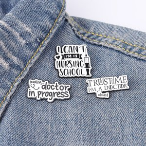 Doctor Nurse Enamel Pins Medical Healthcare Quote Brooches Backpacks Clothes Badge Funny Jewelry Gift for Friends Wholesale