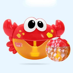 Bubble Machine Crab Music Kids Bath Toy Bathtub Soap Automatic Bubble Maker Game Outdoor Automatic Bubble Maker Gift L0323