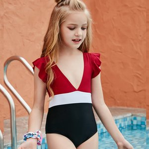 Kid Swimwear Little Child Girl Swimsuit Bikini Bathe Letter Print Leopard Tie Dye Baby Swim Wear Suit 649 Y2
