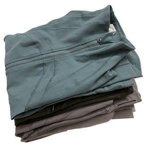 L-jk002 оптом розничная торговля женская куртка йога эластичный с длинным рукавом спортсмен спортивное пальто фитнес бегущая одежда половина молнии стройные афилеты куртки