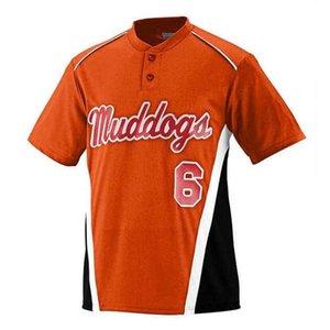 8895142 Пустой пользовательский бейсбол Джерси мужчины женщин размер S-3XL белая кнопка вниз пуловер