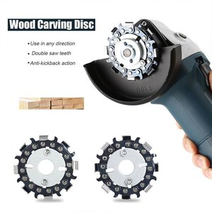 Hand & Power Tool Accessories 2.5 Inch 8 Teeth Grinder Chain Disc Wood Carving Saw Blades Slotted For Cutting SMD66