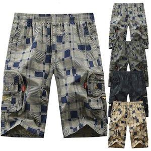Men's Pants Summer Style European and American Half-long Beach Pant Plaid Short-pant Fashion Drawstring DK05 H6P5