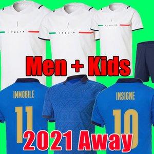Italy Italie maillot de football 2021 civière Sensi Insigne 20 21 22 coupe européenne Renaissance Chiellini Bernardeschi maillots de football pour hommes + kit d'uniforme