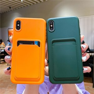Suitable for iPhone11 Apple 12pormax card mobile phone shell soft 8plus silicone 7 protective cover 6 card holder X