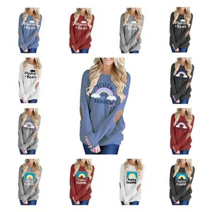 Mama Bear Hoodie 15 Colors Letter Printed Patched Patchwork Pullovers Hoodies Christmas Long Sleeve Shirts LJO7191