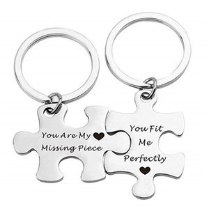 keychain You're My Missing Piece Lighting Puzzle Lovers'Jewelry One Couple Snoopers Valentine's Day gift