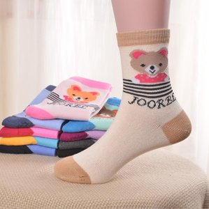2021 Kids socks baby boy girl Summer Soft bobbysocks Breathable hose small mouse comfortable warm jacquard cotton children Candy Color sox 12-16cm