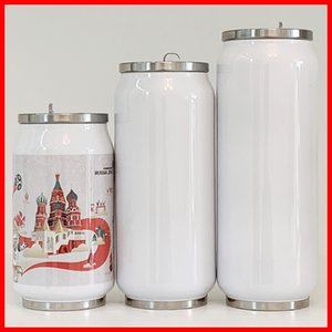 12oz Sublimation Cola Tumblers can DIY 350ml Water Bottles in Bulk Double Walled Stainless Steel Shape Tumbler Insulated Vacuum with Lid C01