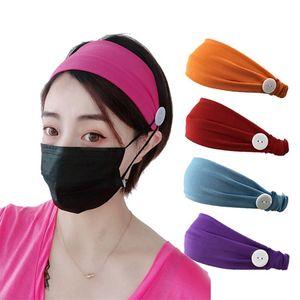 1pc colore solido poliestere sportivo yoga fasce fasce copricapo headwrap turban hearwear fasciatura fascia di capelli bandana per le donne