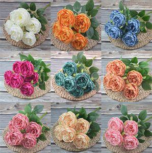 Artificial Silk Peony Flowers Bouquets 7 Heads Core Spun Peonys Wedding Home Decoration Flower DB703