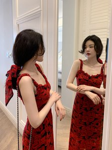 chic' ximengweier Big 'French suspender dress new slim and long floral in spring EXY7