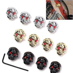 Electric Guitar Bass Metal Zinc Alloy Skull Head Control Knob Volume Tone Tuning Knobs Guitarra Replacement Parts Accessories