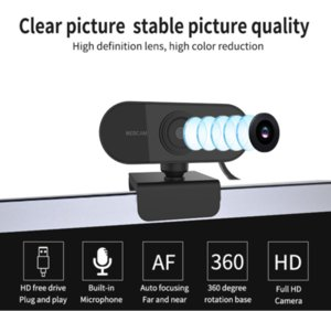 Webcam 1080P Full HD Auto Focus Web Camera With Microphone USB Plug Web Cam For PC Computer Laptop For Video Conference Webcast