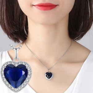 Chains The Heart Of Sea Inlaid With A Large Chain Necklace For Women Female Fashion Statement Jewelry