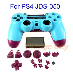 Plastic Matte Housing Shell Case Cover for Sony PS4 Pro JDS-050 5.0 Wireless Controller Front Back Case With Full Buttons