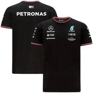 Mercedes AMG Petronas F1 2021 Team Polo Белая черная футболка Формула один гоночный костюм Лучшая качественная рубашка