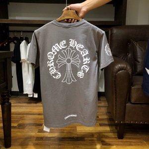 أزياء صيف 2021 العلامة التجارية الجديدة شورت كم t-shirt الرجال والنساء sanskrit حدوة حصان الطباعة ch زوجين klx
