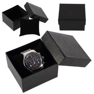 Fashion Black Watch Jewelry Gift Box High Quality Mens Display Organizer Wristwatch Party Supplies Wrap