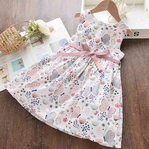 Keelorn Girl Robe 2021 Été Vêtements Enfants Vêtements sans manches Bébé creux Robes de princesse pour filles Broderie Enfants Vestidos 2-7Y 0203 293 Z2