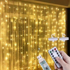Strings LED String Lights Christmas Decorations For Home Remote Control USB Wedding Fairy Garland Curtain Year Navidad 2021