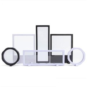 Packaging Drop Delivery 2021 3D Floating Jewelry Display Shadow Box With A Stand Picture Frame Rings Pendant Necklace Coins Medals Presentati