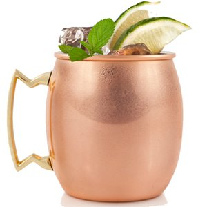 12 pcs Moscow Mule Mug Stainless Steel Hammered Copper Mug for Beer Ice Coffee Tea Plating Hammered Drum Cocktail Drink Cups 409 V2