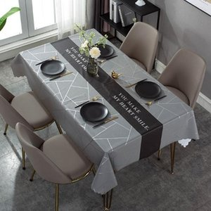 Luxury Leather Tablecloth Nordic Style Table Cloth Waterproof Oil-proof Wash-proof Scald-proof Thick Pvc Dining Coffee Mat