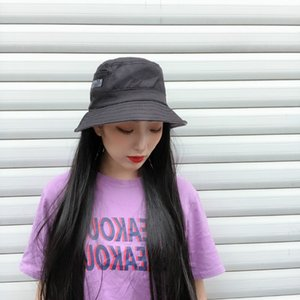 Tik Tok Live Stream with Goods Wig Hat One Summer Womens Fashion Black Long Straight Hair Breathable Bucket Hat in Stock Wholesale