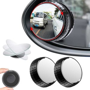 Car Blind Spot Mirror Round HD Glass with Framed Convex Rear View Mirror with Wide Angle Adjustable Sucker for Cars SUV Truck