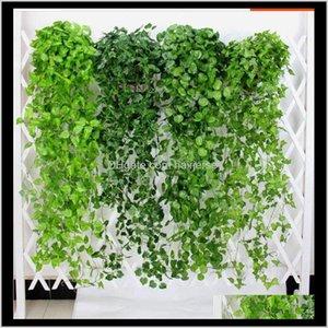 Decorative Flowers Wreaths Hanging Vine Greenery Artificial Plants Leaves Garland Home Garden Wedding Decorations Wall Decor Szqx7 Uu67E