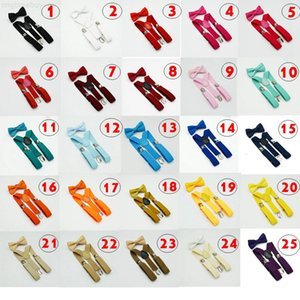 Bow for 32colors Tie Set Kids 1-10T Baby Braces Elastic Y-back Boys Girls Suspenders accessories