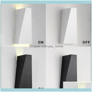 Wall Deco El Supplies Home & Gardenwall Lamp Led Sconce 10W Aluminum Bedsides Reading Lights Up And Down For Bathroom Corridor Surface Mount