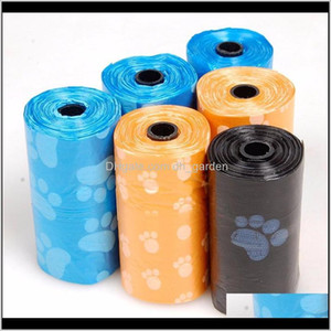 Other Supplies Garden Drop Delivery 2021 3 Rolls60Pcs Poop Footprint Plastic Garbage Bags For Pet Dot Cat Waste Pick Up El Home Clean Dog Poo