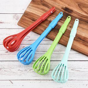 Multifuncional Ovo Batedor PP Plástico Famílio Comida Clipe Misturador Misturador Ovo Kitchen Tools T500786