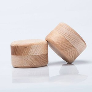 Retro Style Wooden Ring Storage Box round Jewelry Earrings Organization and Storage Boxes GWB10301