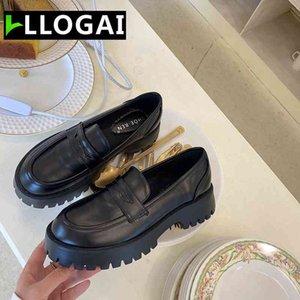 Boussac الأسود الشرير منصة المرأة المتسكعون جولة تو مكتنزة كعب خمر أحذية النساء الانزلاق على ارتفاع كعب النساء مضخات 210331
