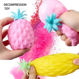 Fun Soft Pineapple Anti Stress Ball Stress Reliever Toy For Children Adult Fidget Squishy Antistress Creativity Cute Fruit Toys
