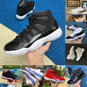 أحذية اليوبيل بانتون بانتون 11 11s كرة السلة الفوز مثل 25th الذكرى الفضاء Jam Gamma الأزرق عيد الفصح كونكورد 45 منخفضة كولومبيا أبيض أحمر