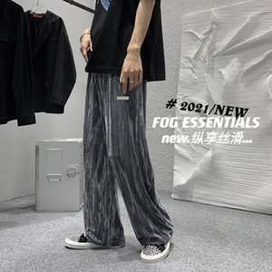 2021 new mens designer pants casual sports lightweight quick-drying stretch pants 3m reflective logo Premium silky cotton soft versatile trousers