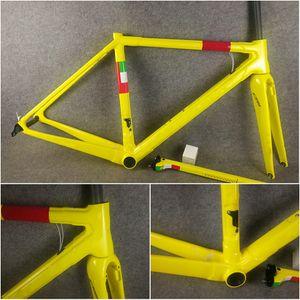 Couleur jaune T1000 UD C64 Cadre de vélo de carbone Cadre Vélo Fibre de carbone Fibre de carbone Cadet C60 Concept V3RS BB386